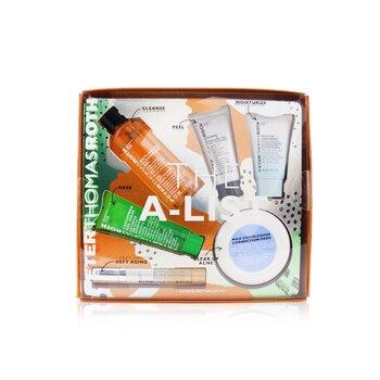 Kit The A-List 6-Piece Bestseller: Gel Limpiador 57ml + Gel Peeling 15ml + Cucumber Gel Mascarilla 30ml + Almohadillas Correctoras 20pzs + Suero 10ml + Hidratante 20ml  6pcs