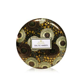 3 Wick Decorative Tin Candle - Baltic Amber  340g/12oz