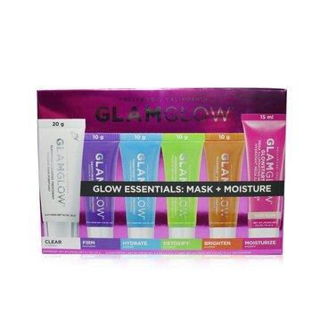 Glow Essentials: Mask + Moisture Набор: Supermud + GravityMud + Thirstymud + PowerMud + FlashMud + Glowstarter Nude Glow  6pcs