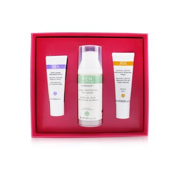 Face Favourites Set: Glycol Latic Mask 15ml + Evercalm Day Cream 50ml + keep Young & Beautiful Beauty Shot 10ml  3pcs