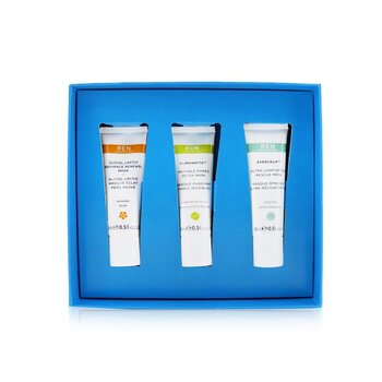 Face Mask Trio Set: Glycol Lactic Mask 15ml + Evercalm Mask 15ml + Clarimatte Mask 15ml  3x15ml/0.5oz