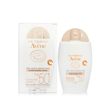 Very High Protection Tinted Mineral Fluid SPF 50+ - For Sensitive & Intolerant Skin  40ml/1.3oz