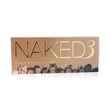 Naked 3 Eyeshadow Palette: 12x Eyeshadow, 1x Doubled Ended Shadow/Blending Brush (Box Slightly Damaged)  -
