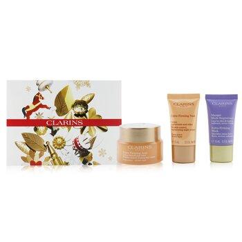 Extra-Firming Collection: Day Cream 50ml/1.7oz + Night Cream 15ml/0.5oz + Mask 15ml/0.5oz + Bag  3pcs+1bag