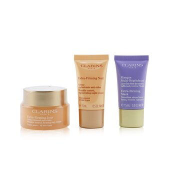 Extra-Firming Collection: Day Cream 50ml/1.7oz + Night Cream 15ml/0.5oz + Mask 15ml/0.5oz + Bag  3pcs+1bag