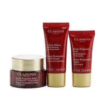 Super Restorative Collection: Day Cream 50ml/1.7oz + Night Cream 15ml/0.5oz + Hand Cream 30ml/1oz + Bag  3pcs+1bag
