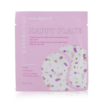 Moodpatch - Happy Place Inspiring Tea-Infused Aromatherapy Eye Gels (Rose+Hibiscus+Lotus Flower)  5pairs