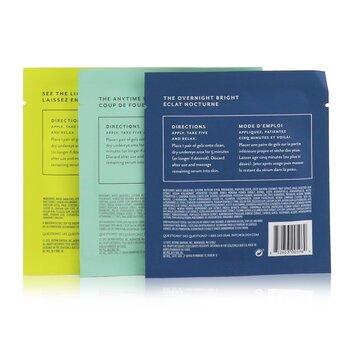 FlashPatch Eye Gels - All Eyes On You Eye Perfecting Trio Kit: Rejuvenating, Illuminating, Restoring  6pairs