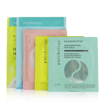 Nude & Improved Skin Perfection Kit: Hydrate Mask, Illuminate Mask, Rejuvenating Eye Gels, illuminating Eye Gels, Cleansing Facial Wipes, Hydrating Lip Gels  -