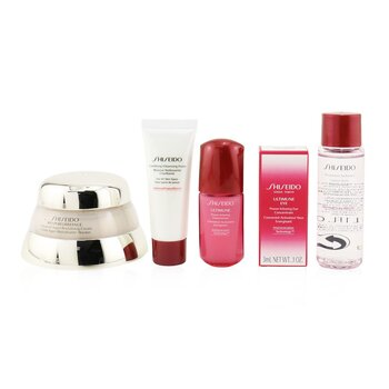 Time Fighting Ritual Bio-Performance Advanced Super Revitalizing Cream Set (For All Skin Types): Super Revitalizing Cream 50ml + Cleansing Foam 15ml + Ultimune Concentrate 10ml + Ultimune Eye Concentrate 3ml  5pcs+1pouch
