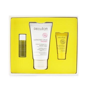 Certified Organic Soothing Box: Comfort 2 In 1 Cream & Mask 50ml+Comfort Oil-Serum 5ml+Comfort Night Balm 2.5ml  3pcs
