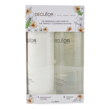 Aroma Cleanse Prep & Finish Cleansing Duo: Essential Cleansing Milk 400ml+ Essential Tonifying Lotion 400ml  2pcs