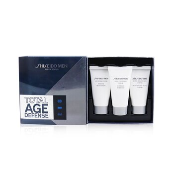Total Age Defense 3-Pieces Set: Cleansing Foam 30ml + Cleansing Scrub 30ml + Revitalizer Cream 30ml  3pcs