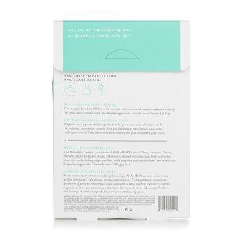 PoshPeel Pedi Cure - Gently Exfoliates & Resurfaces Feet (1 Treatment)  2x20ml/0.68oz