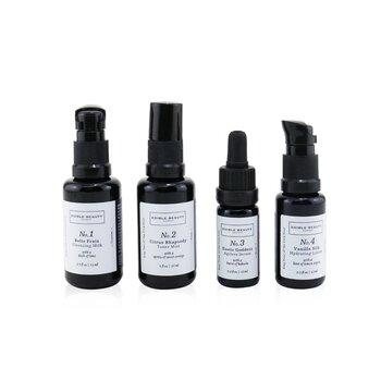& Edible Beauty On The Fly Travel Mini Kit: Cleansing Milk 15ml+ Toner Mist 30ml+ Ageless Serum 10ml+ Hydrating Lotion 15ml  4pcs