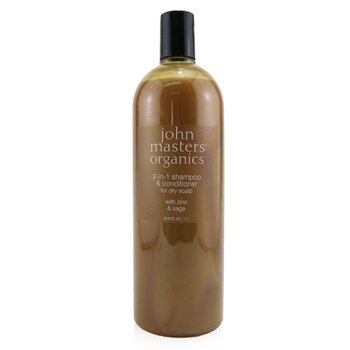 2-in-1 Shampoo & Conditioner For Dry Scalp with Zinc & Sage  1000ml/33.8oz