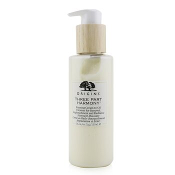 Three Part Harmony Foaming Cream-To-Oil Cleanser For Renewal, Replenishment & Radiance  150ml/5oz