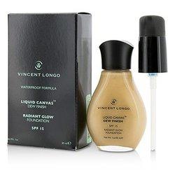 Vincent Longo Liquid Canvas Dew Finish Base de Maquillaje - Base Maquillaje Líquida SPF15 ( Brillo Radiante ) - # 5 Medium Beige  30ml/1oz