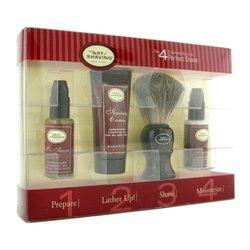 The Art Of Shaving Starter Kit - Sandalwood: Pre Shave Oil + Shaving Cream + Brush + After Shave Balm  4pcs