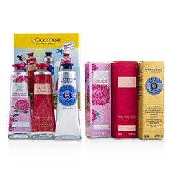 L'Occitane Lovelier Hands Kit: 2x Rose Velvet 30ml + 2x Pivoine Flora 30ml + 2x Shea Butter 30ml  6x30ml/1oz