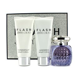 Jimmy Choo Flash Coffret: Eau De Parfum Spray 100ml/3.3oz + Loción Corporal 100ml/3.3oz + Gel de Ducha Perfumado 100ml/3.3oz  3pcs