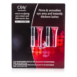 Olay Regenerist Micro-Sculpting Eye Care Set: 2x Eye Cream 10ml/0.34oz + 2x Lash Serum 5ml/0.17oz  4pcs