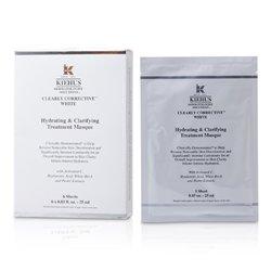 Kiehl's Clearly Corrective White Mască Tratament Hidratantă și de Curățare (6 Coli)  6x25ml/0.85oz