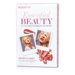 ModelCo Essential Beauty (1x Polvo Rubor de Mejillas, 1x Shine Ultra Brillo de Labios) - Amaretto Sunset  2pcs
