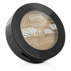 Lavera 2 In 1 Compact Foundation - # 03 Honey  10g/0.32oz
