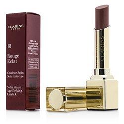 Clarins Rouge Eclat Satin Finish Age Defying Lipstick - # 18 Strawberry Sorbet  3g/0.1oz