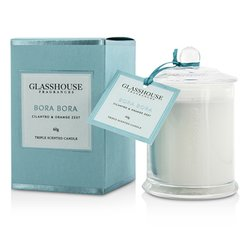 Glasshouse شمع معطر ثلاثي - Bora Bora ( سيلانترو وقشر البرتقال )  60g