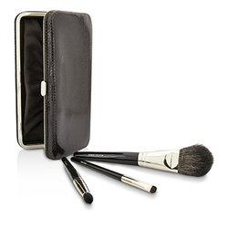 Laura Mercier ชุดแปรงเดินทาง Travel Brush Kit: 1x แปรงปัดแก้ม Cheek Colour Brush, 1x แปรง Smudge Brush, 1x แปรงแต่งตา Eye Crease Brush, 1xกระเป๋า (ไม่มีกล่อง)  3pcs+1case