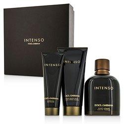Dolce & Gabbana Intenso Coffret: Eau De Parfum Spray 125ml/4.2oz + After Shave Balm 75ml/2.5oz + Shower Gel 50ml/1.6oz  3pcs