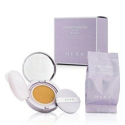 Hera UV Mist Cushion Nude Mineral Clay Water & Smart Vector UV Complex SPF34 With Extra Refill - # 21 Vanilla  2x15g/0.5oz