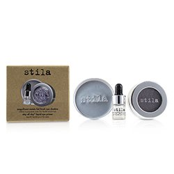 Stila Magnificent Metals Foil Finish Eye Shadow With Mini Stay All Day Liquid Eye Primer - Metallic Lavender  2pcs