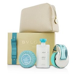 Bvlgari Omnia Paraiba Coffret: Eau De Toilette Spray 65ml/2.2oz + Body Lotion 75ml/2.5oz + Soap 75g/2.6oz + Pouch  3pcs+1pouch
