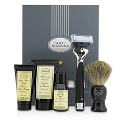 The Art Of Shaving Lexington Collection Power Shave Set: Razor + Brush + Pre Shave Oil + Shaving Cream + After Shave Balm - Without Battery  5pcs