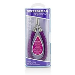 Tweezerman Professional Grip & Snip Spiral Spring Cuticle Nipper - # Lollypop Berry
