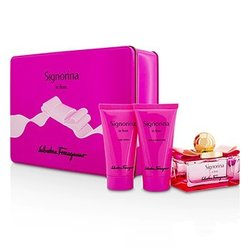 Salvatore Ferragamo Signorina In Fiore Coffret: Eau De Toilette Spray 50ml/1.7oz + Body Lotion 50ml/1.7oz + Shower Gel 50ml/1.7oz  3pcs