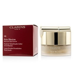 Clarins Skin Illusion Mineral & Plant Extracts Loose Powder Foundation (With Brush) (New Packaging) - # 105 Nude  13g/0.4oz