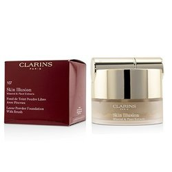 Clarins Skin Illusion Mineral & Plant Extracts Loose Powder Foundation (With Brush) (New Packaging) - # 107 Beige  13g/0.4oz