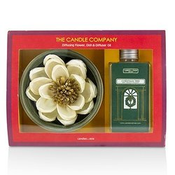 The Candle Company Christmas Tree Diffuser Flower Coffret: Diffusing Flower + Dish + Diffuser Oil 100ml  3pcs