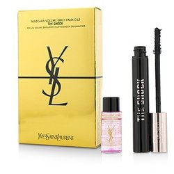 Yves Saint Laurent The Shock Mascara Set : 1x Mascara+ 1x Expert Make Up Remover  2pcs