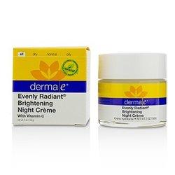 Derma E Evenly Radiant Brightening Night Cream  56g/2oz