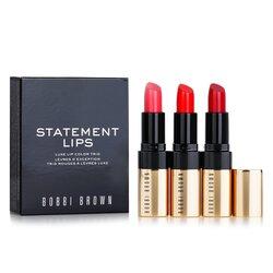 Bobbi Brown Luxe Lip Color Trio - #20 Retro Coral, #26 Retro Red, #29 Sunset Orange  3x3.8g/0.13oz