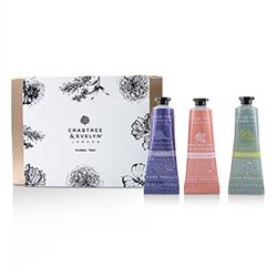 Crabtree & Evelyn Floral Hand Therapy Trio (1x Pear & Pink Magnolia, 1x Rosewater & Pink Peppercorn, 1x Lavender & Espresso)  3x25ml/0.86oz