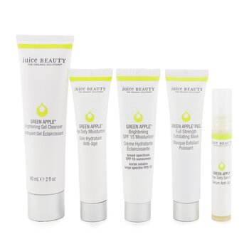 Brightening Solutions Set: 30 Day Discovery Kit For Brightening & Correcting Uneven Skin Tone: Cleanser + Serum + Peel + Brightening Moisturizer SPF 15 + Age Defy Moisturizer  5pcs