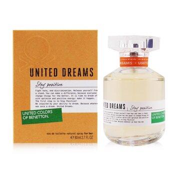 United Dreams Stay Positive Eau De Toilette Spray 80ml/2.7oz