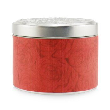 100% Beeswax Tin Candle - Red Red Rose  (8x6) cm