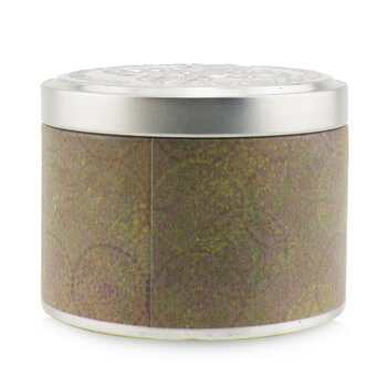 100% Beeswax Tin Candle - Green Tea  (8x6) cm